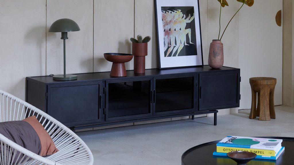 new routz brooklyn dressoir black rope fauteuil vazen salontafel